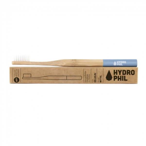 Eine Bambus-Zahnbürste in ihrer Verpackung