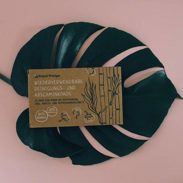 Produktfoto der wiederverwendbaren Abschminkpads