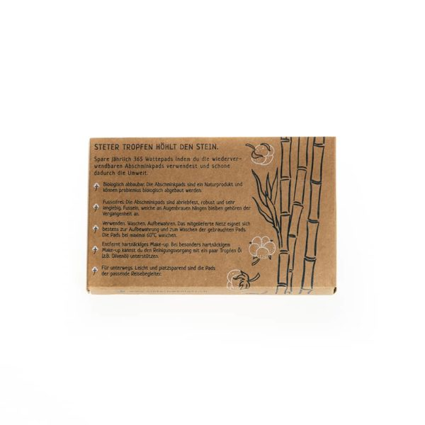 Produktfoto der Verpackung von Abschminkpads
