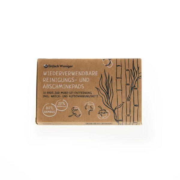 Produktfoto der Verpackung der wiederverwendbaren Abschminkpads