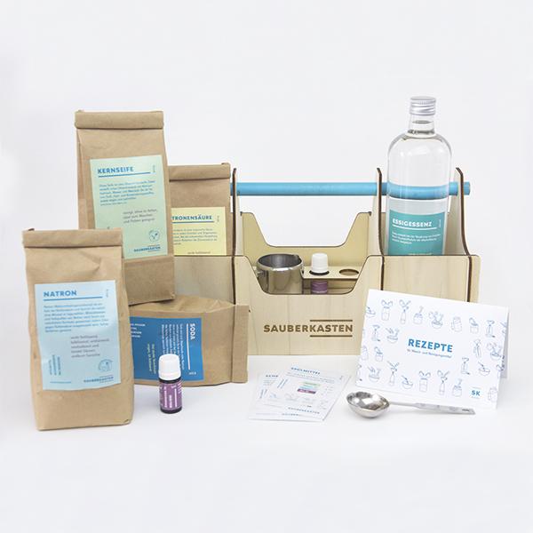 Foto eines Do-it-Yourself-Kit für Reinigungsmittel
