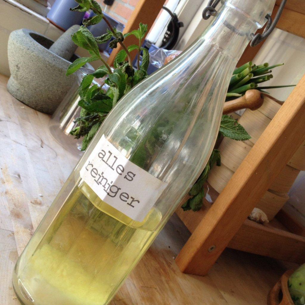 Foto einer Flasche mit Do-it-yourself-Reiniger