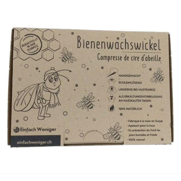Produktfoto der Verpackung eines Bienenwachswickels
