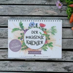 der wachsende Kalender mit Pflanzensamen