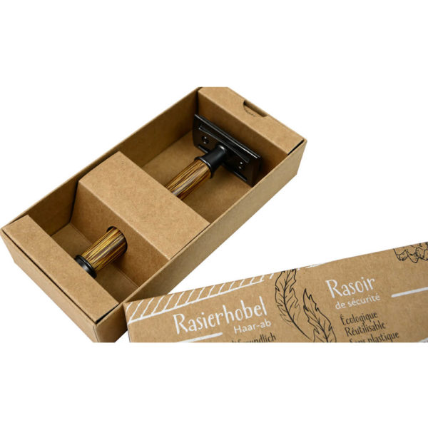 Produktfoto des Rasierhobels in seiner Verpackung