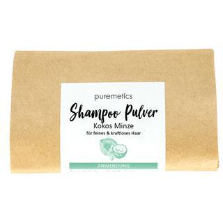 Shampoo Pulver Kokos Minze Puremetics