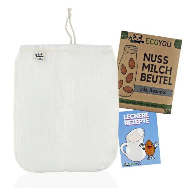 Nussmilchbeutel Mandelmilch selbst herstellen