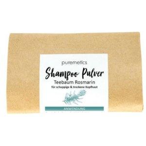 Shampoo Pulver Teebaum Rosmarin Puremetics