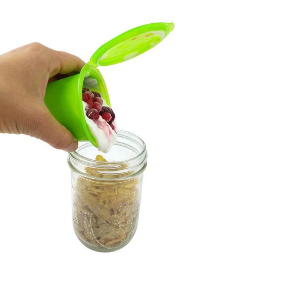 Snack-mit-Dip-Aufsatz für Mason Jars mit wide mouth