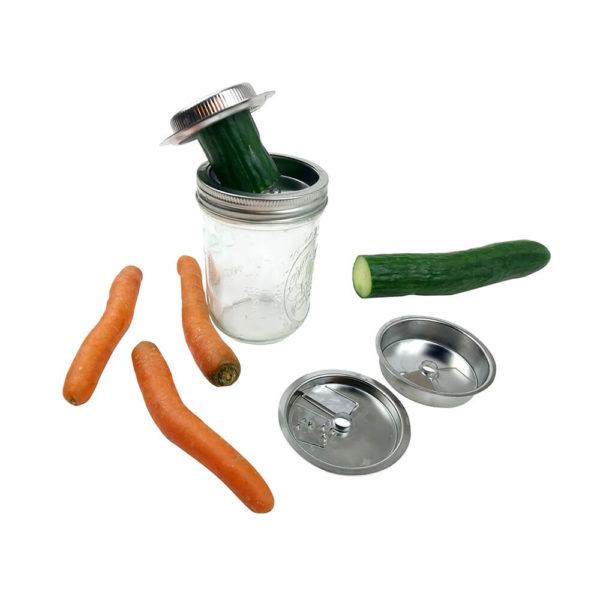 3-in-1-Spiralschneideraufsatz für das Mason Ball Glas wide mouth