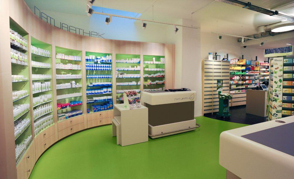 Foto des Ladengeschäfts der Drogerie Nagel Naturathek