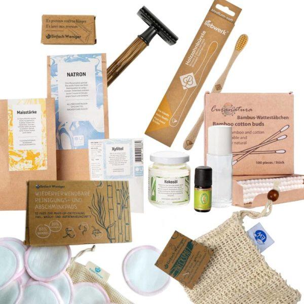 Collage von verschiedenen Produkten aus dem Online Shop von Einfach Weniger