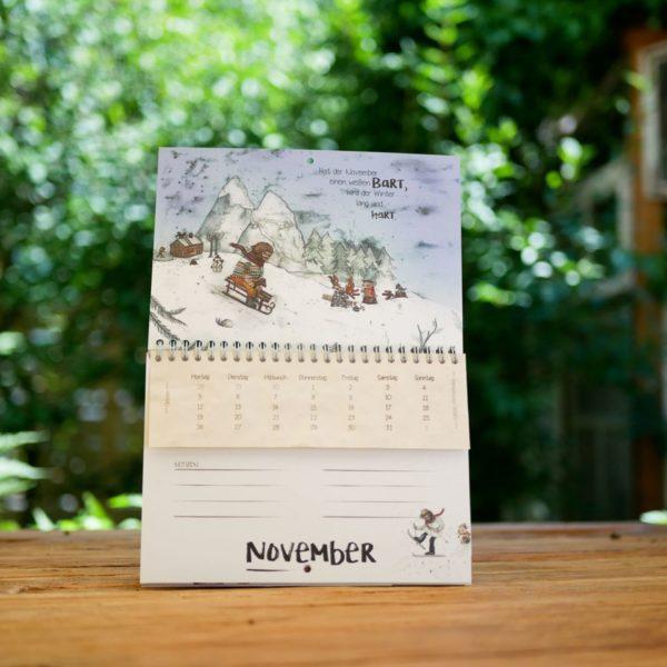 Foto eines Kalenders, deren einzelne Blätter sich einpflanzen lassen