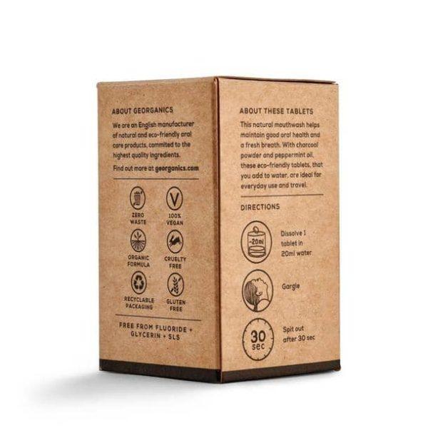 Produktfoto Aktivkohle Mundspülungstabletten, Verpackung