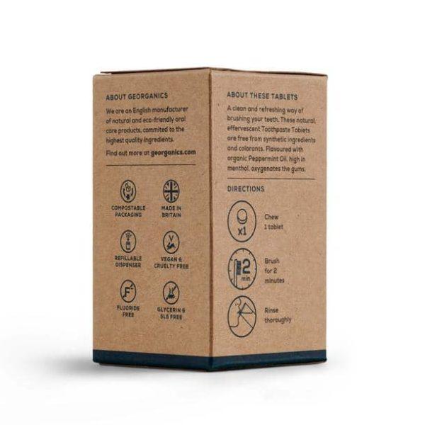 Produktfoto Natürliche Reinigungs-Zahnpasta-Tabletten Verpackung