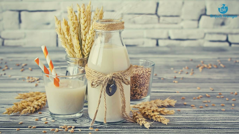 Hafermilch oder andere Getreidemilch